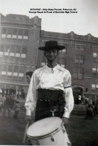 1947 - 10-19 - Holy Name Parade_ Paterson - G Hayek in Front of Eastside HS