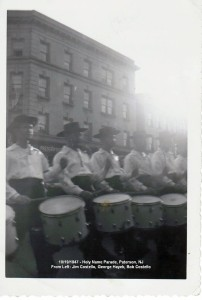 1947 - 10-19 - Holy Name Parade_ Paterson - J Cos_ G Hayek_ B Cos